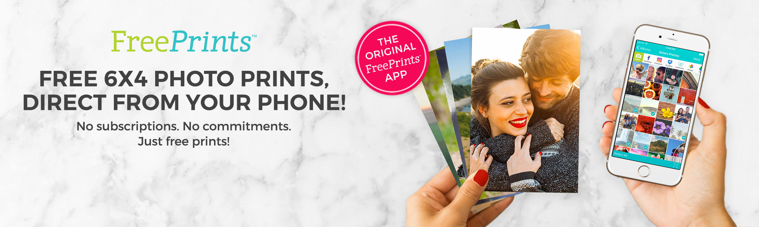 Free 6x4 Photo Prints, Right from your phone!